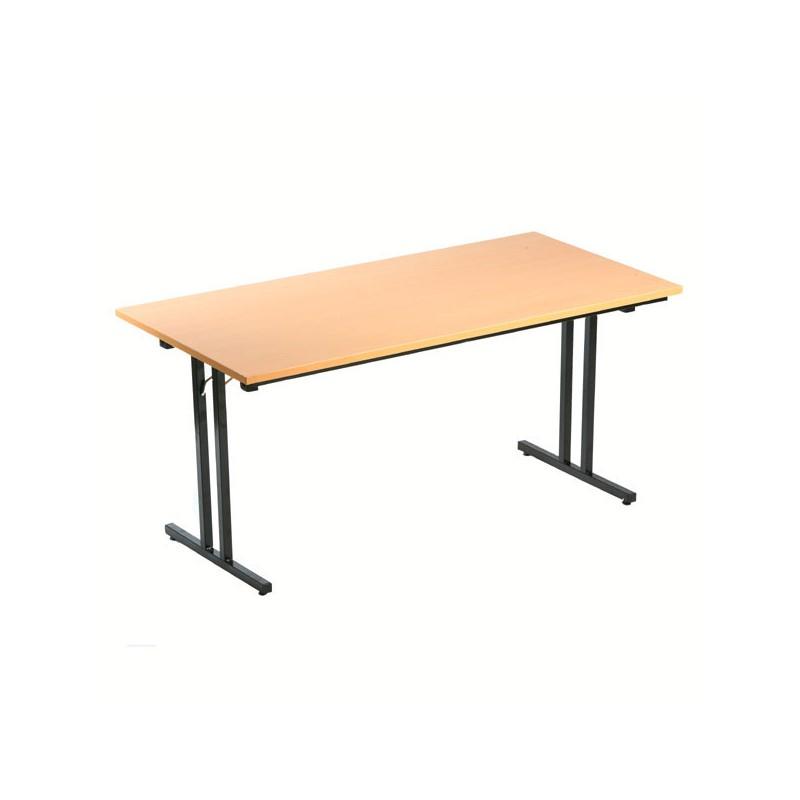 Table Pliante Polyvalente En Bois 180X80Cm - Mobilier ... destiné Table Pliante 180 Cm Leclerc