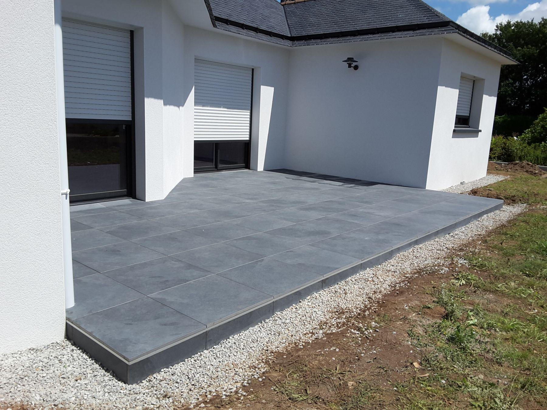 Terrasse Avec Dalle Sur Plot - Veranda-Styledevie.fr pour Dalle Sur Plot 100X100