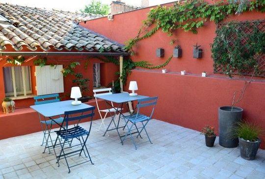 Terrasse | Deco Mur Exterieur Jardin, Enduit Façade Et ... encequiconcerne Decoration Mur Exterieur Maison En Tunisie