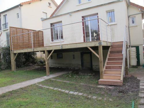 Terrasse En Bois Sur Pilotis | Terrasse Bois, Construction ... dedans Étanchéité Terrasse Bois Sur Pilotis