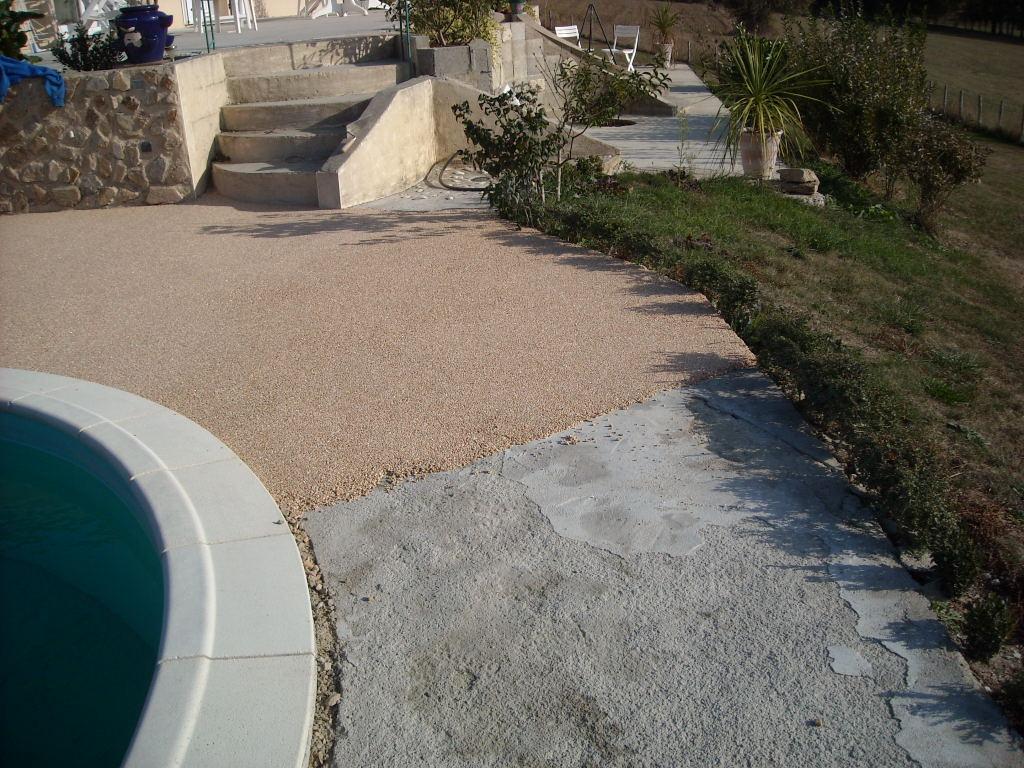 Terrasse Gravier Rouge - Veranda-Styledevie.fr dedans Gravier Castorama