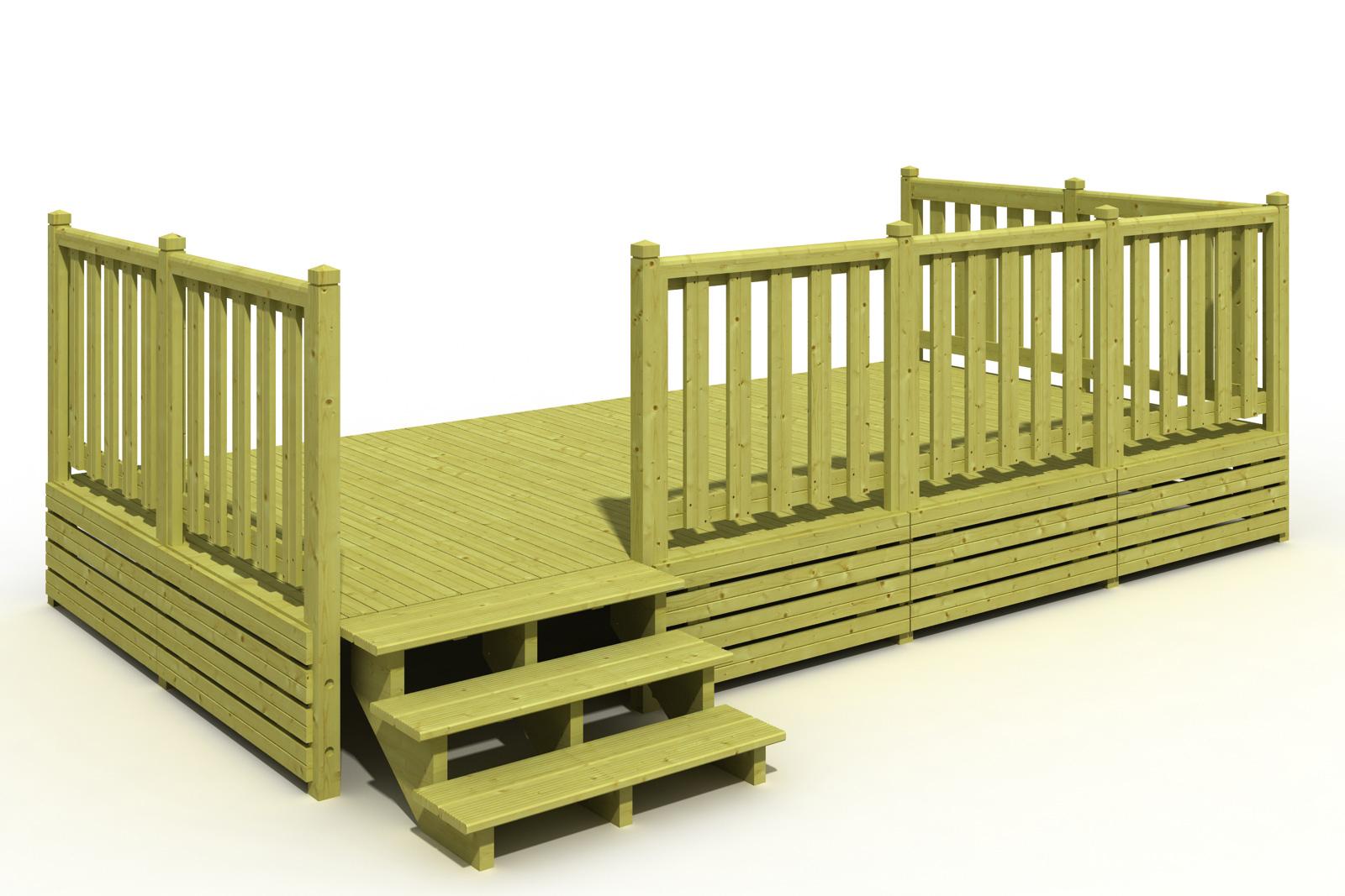 Terrasse Mobil-Home 250X480 - Simple - Terrasse Mobil Home ... serapportantà Deckit