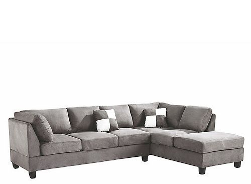 The Comfy Malone 2-Pc. Sectional Sofa Features Tufted ... serapportantà Chaise Malone But