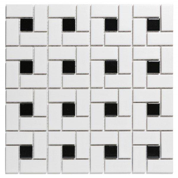 The Mosaic Factory Paris Carrelage Mosaïque 56X56X5Mm Et ... dedans Carrelage Mural Noir Mat