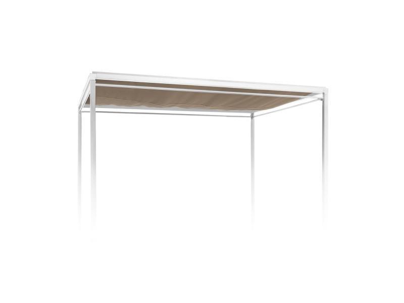 Toit Tonnelle Polyester intérieur Tonelle Adossee Aluminium 5M