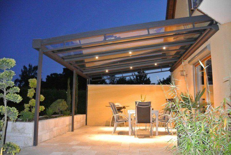 Toiture Transparente Pour Terrasse Avec Cadre En Aluminium ... serapportantà Terrasse Couverte Moderne