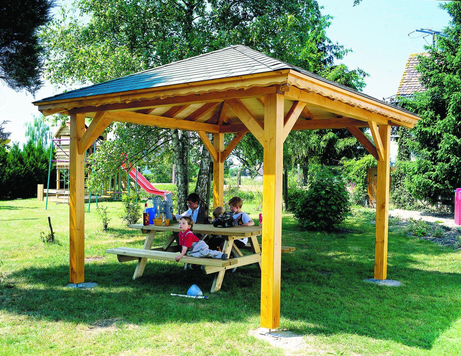 Tonnelle De Jardin Bois Exotique dedans Auvent Bois Brico Depot
