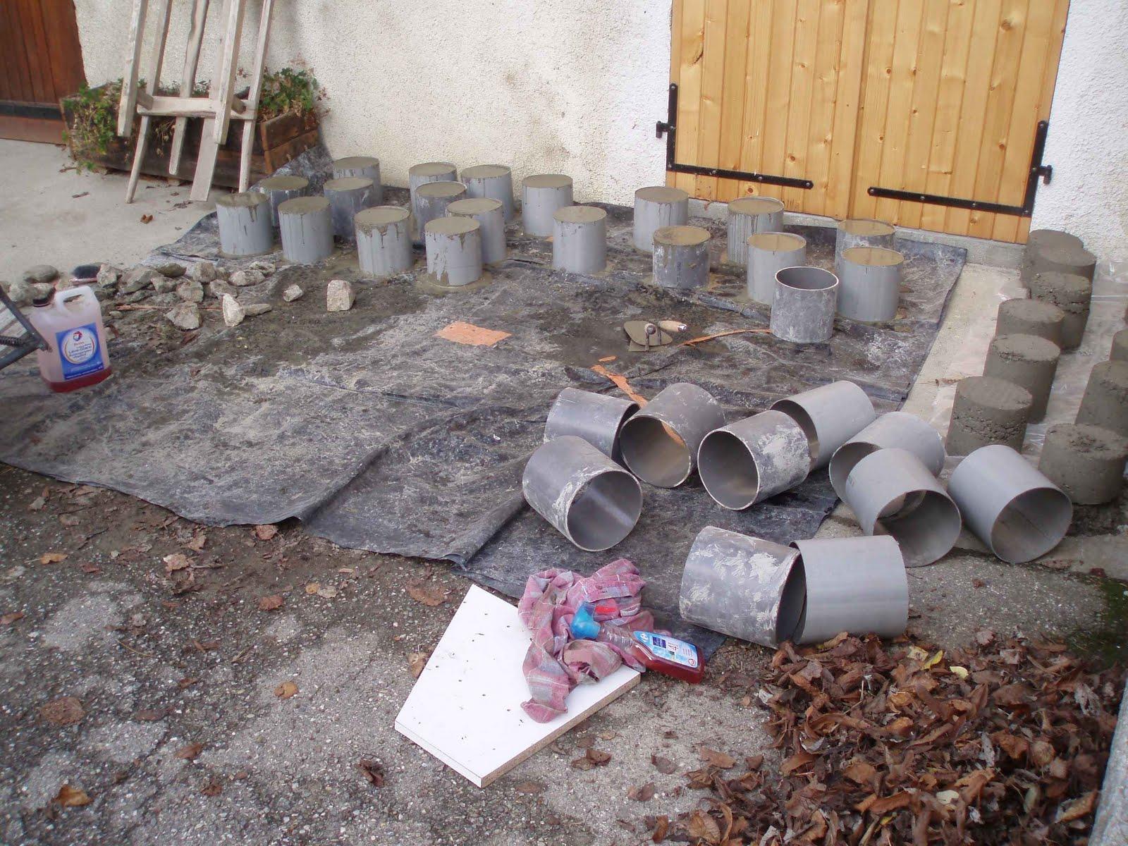 Une Maison En Bois En Savoie: Novembre 2009 intérieur Plot Beton Terrasse
