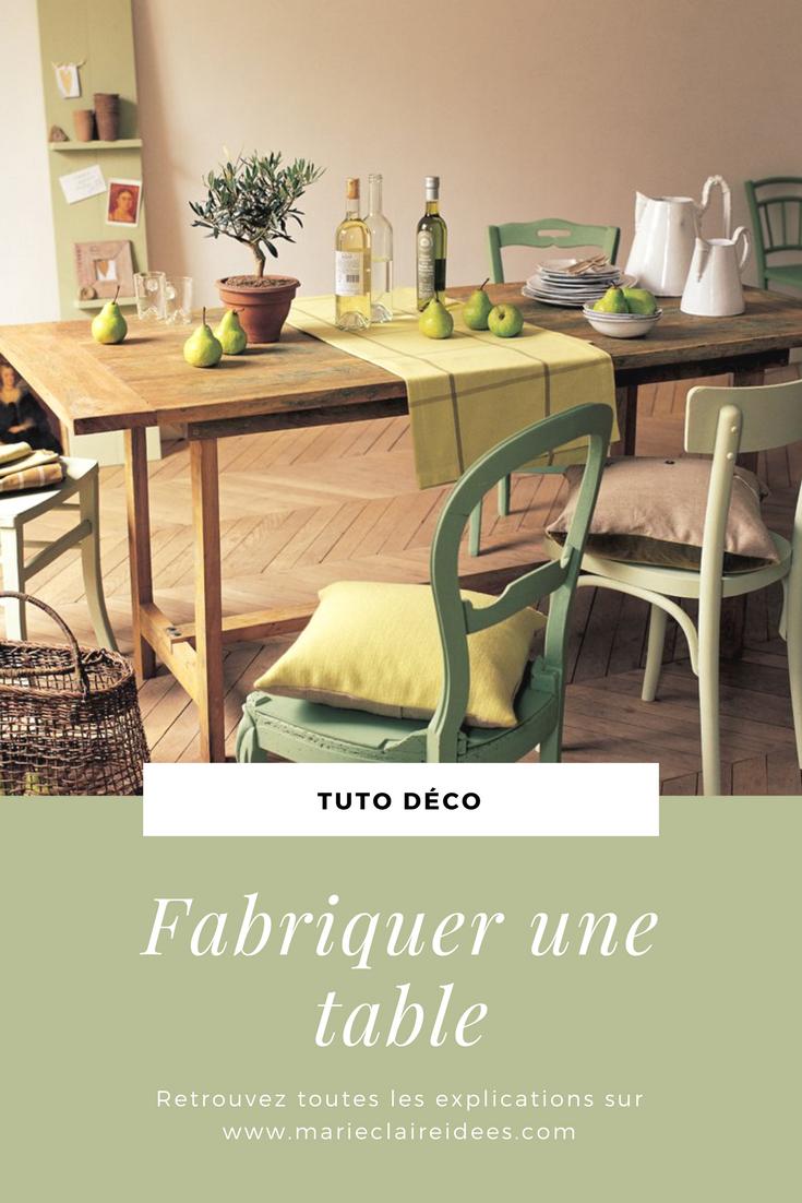Une Table En Planches De Récup'   Table À Manger En Bois ... destiné Comment Fabriquer Une Table De Ferme En Bois