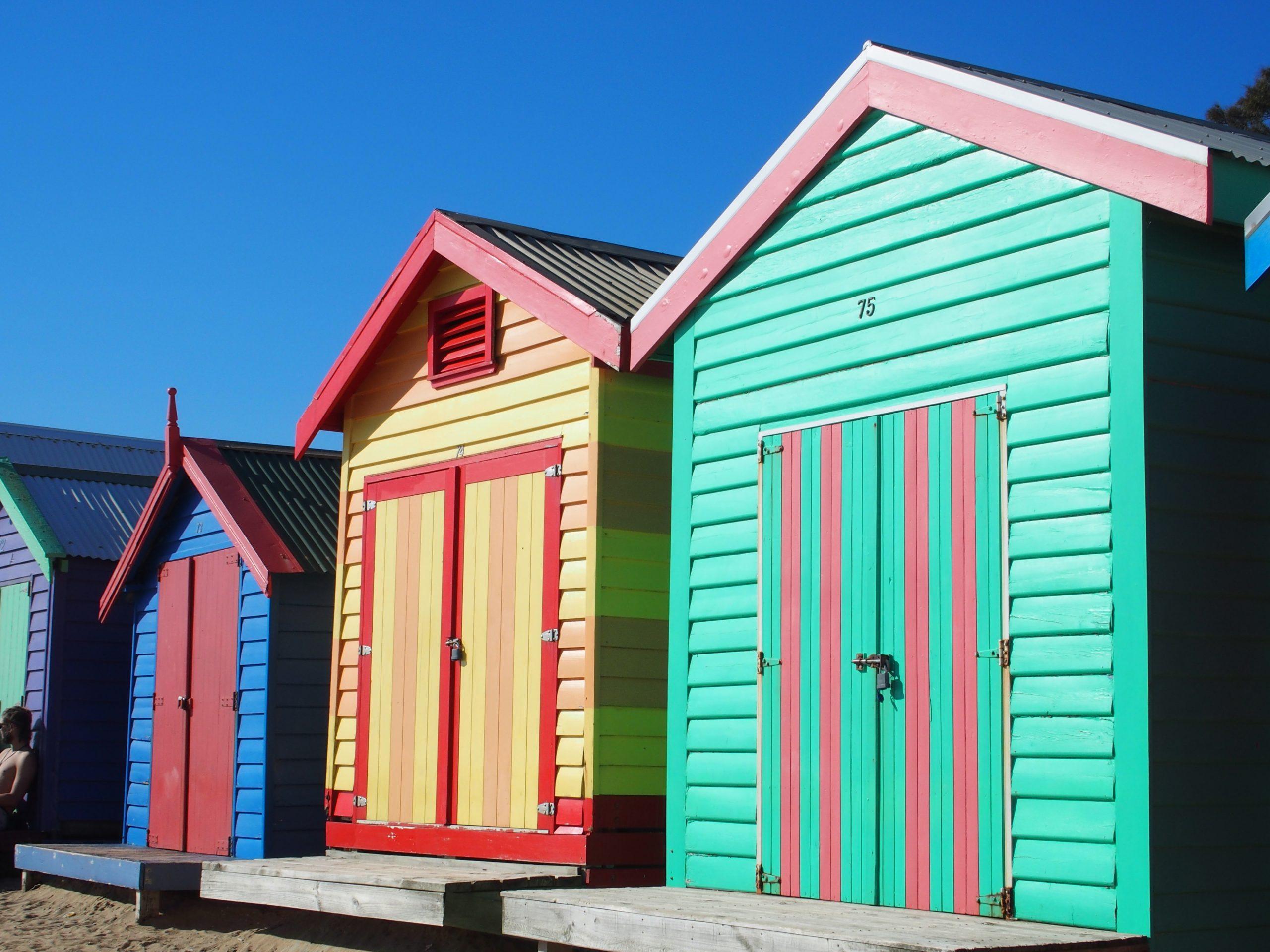 Victoria (Vic) Brighton Beach (Et Ses Fameuses Cabines De ... concernant Cabine De Plage Occasion
