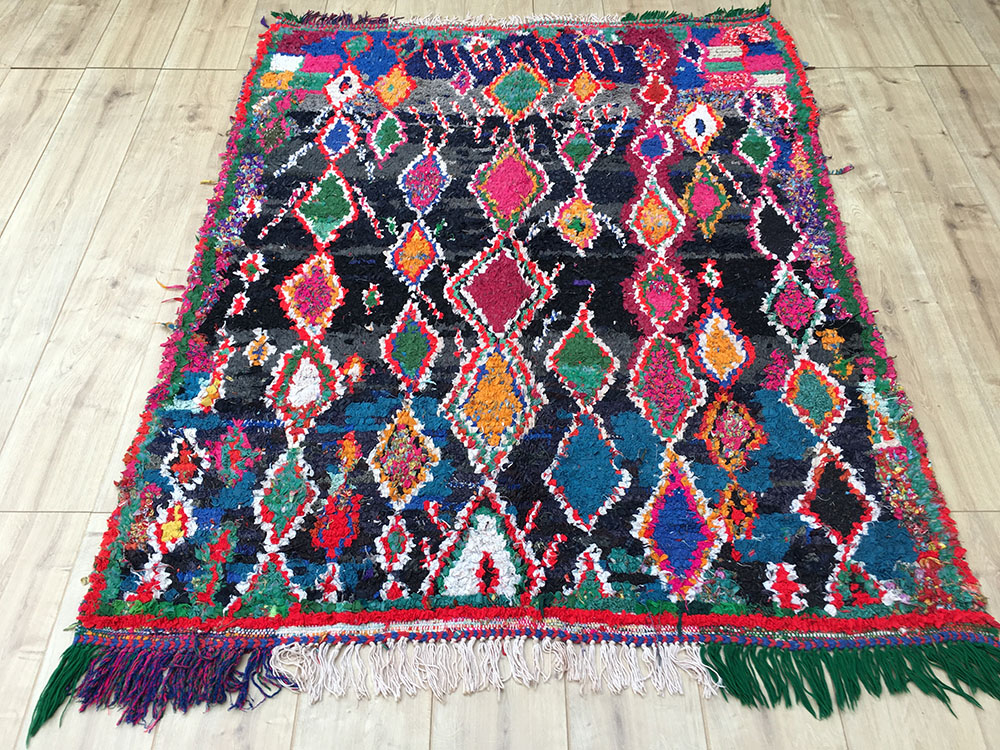 Vintage Moroccan Rug-Boucherouite Berber Rug (Very Rare ... encequiconcerne Tapis Berbere But