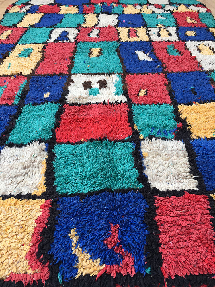 Vintage Moroccan Rug-Tapis Berbere-Azilal (240X147Cm) A ... encequiconcerne Tapis Berbere But